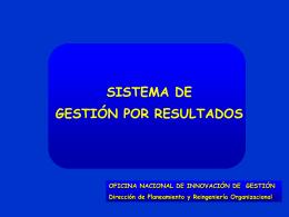 Alfredo Ossorio - Gestion por Resultados