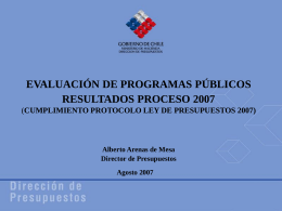 Resultados Proceso 2007