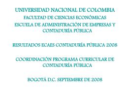Resultados Ecaes Contaduría 2008
