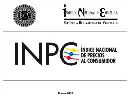 Presentación - INPC Marzo 2008