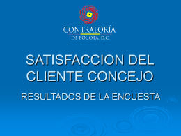 RESULTADOS DE LA ENCUESTA - Contraloría de Bogotá D.C.
