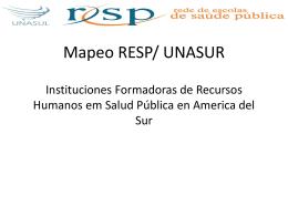Mapeo RESP UNASUR