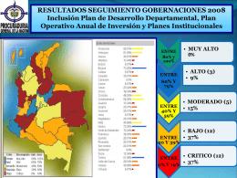 resultados seguimiento gobernaciones 2008