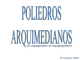 oliedros arquimedianos - matematicas Ricardo Vazquez