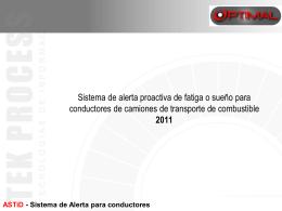 ASTiD - Sistema de Alerta para conductores con fatiga