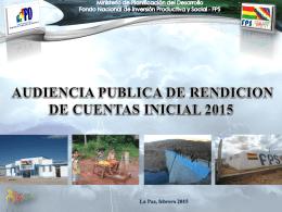 1% - Fondo Nacional de Inversión Productiva y Social
