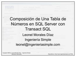 Conversión de Números a Letras con Transact-SQL