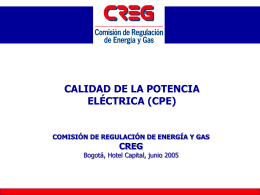 Presentación CREG, Ana MarÃa Briceño