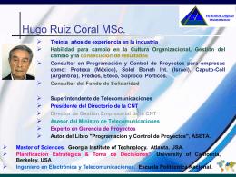 Consultores - Hugo Ruiz