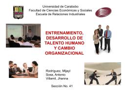 entrenamiento, desarrollo de talento humano y cambio organizacional