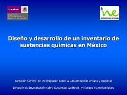 Diseño y desarrollo de un inventario de sustancias químicas en