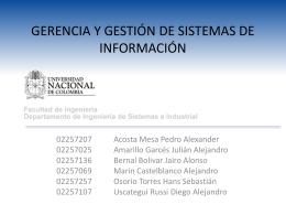 Tópicos Especiales de Bases de Datos y Sistemas de Información