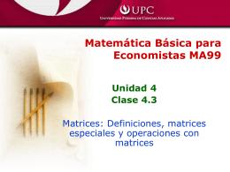 Clase 4-3 (Matrices: Operaciones)
