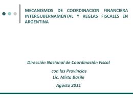 Direccion Nacional de Coordinacion Fiscal con las Provincias