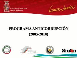 programa anticorrupción (2005