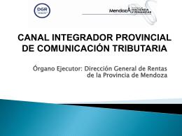 8.Canal Integrador Provincial de Comunicación Tributaria de la