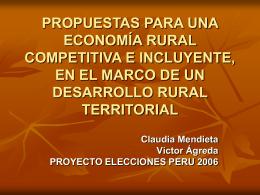 Presentacion Desarrollo Rural (DESARROLLO_RURAL)