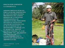 Diapositiva 1 - Asociación Mexicana de Arboricultura