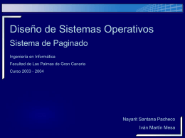 paginacion - Servidor de Información de Sistemas Operativos