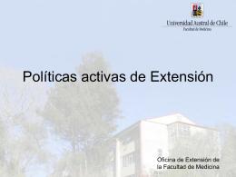 Políticas activas para Extensión