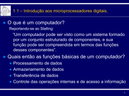 Tópicos em Microprocessadores Digitais - Conceitos Gerais