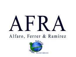 AFRA cumpliendo con los principios del Pacto Global