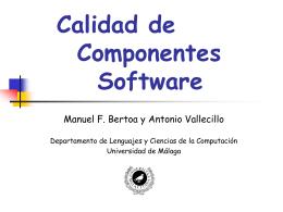 slides - Departamento de Lenguajes y Ciencias de la Computación
