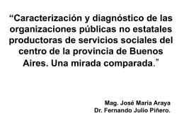 """""""Caracterización y diagnóstico de las organizaciones públicas no"""