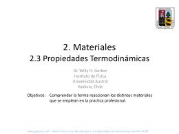 2. Materiales 2.3 Propiedades Eléctricas y Termodinámicas
