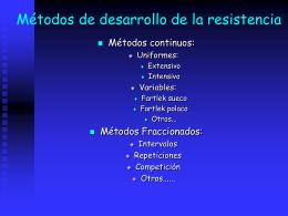 Métodos de desarrollo de la resistencia - E