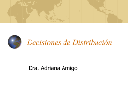 Decisiones de Distribución