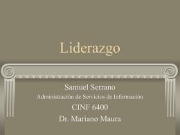 Presentación sobre liderazgo - Portafolio de Samuel Serrano