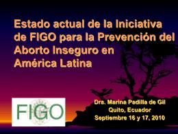 Avances de la Iniciativa FIGO en América Latina y El Caribe