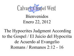 Romanos 2:12-15 - Calvary Chapel West