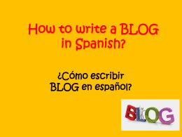 Examples of how to START a Spanish BLOG