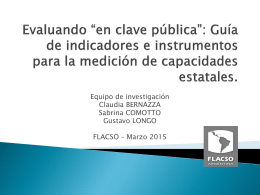 """Evaluando """"en clave pública"""": Guía de"""