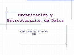 5.2. Diccionario de Datos 2009