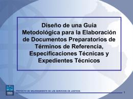 Diseño de una Guía Metodológica - Proyecto de Mejoramiento de