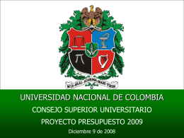 Diapositiva 1 - Universidad Nacional de Colombia