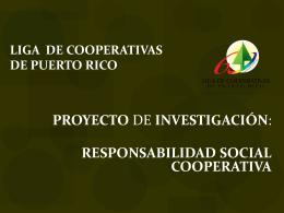 Responsabilidad Social Cooperativa de la Liga de Cooperativas de