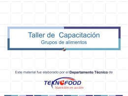 Taller de Capacitación Grupos de alimentos/ Buenas Prácticas de