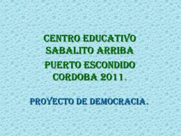 proyecto_democracia - IE. SABALITO ARRIBA PUERTO