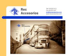 PowerPoint de presentación REC Accesorios