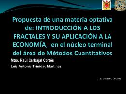 Introducción a los fractales y su aplicación a la economía