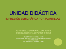 presentación de la unidad didáctica impresión serigráfica por