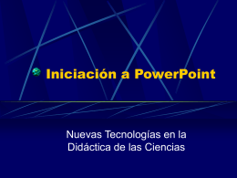 Iniciación a Power Point