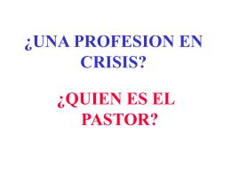 una profesion en crisis? - Ministerio Personal y Grupos Pequeños