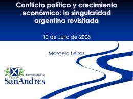crecimiento económico con crisis política: raices institucionales de