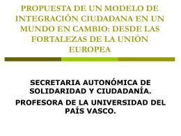 propuestas para la integración ciudadana - ENSA