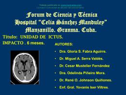 Forum de ciencia y tecnica hospital